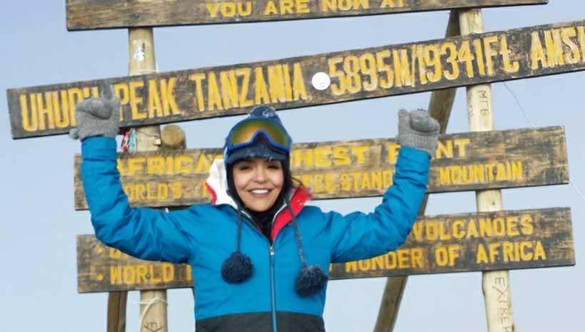 Khrystal Milot Mount kilimanjaro summit